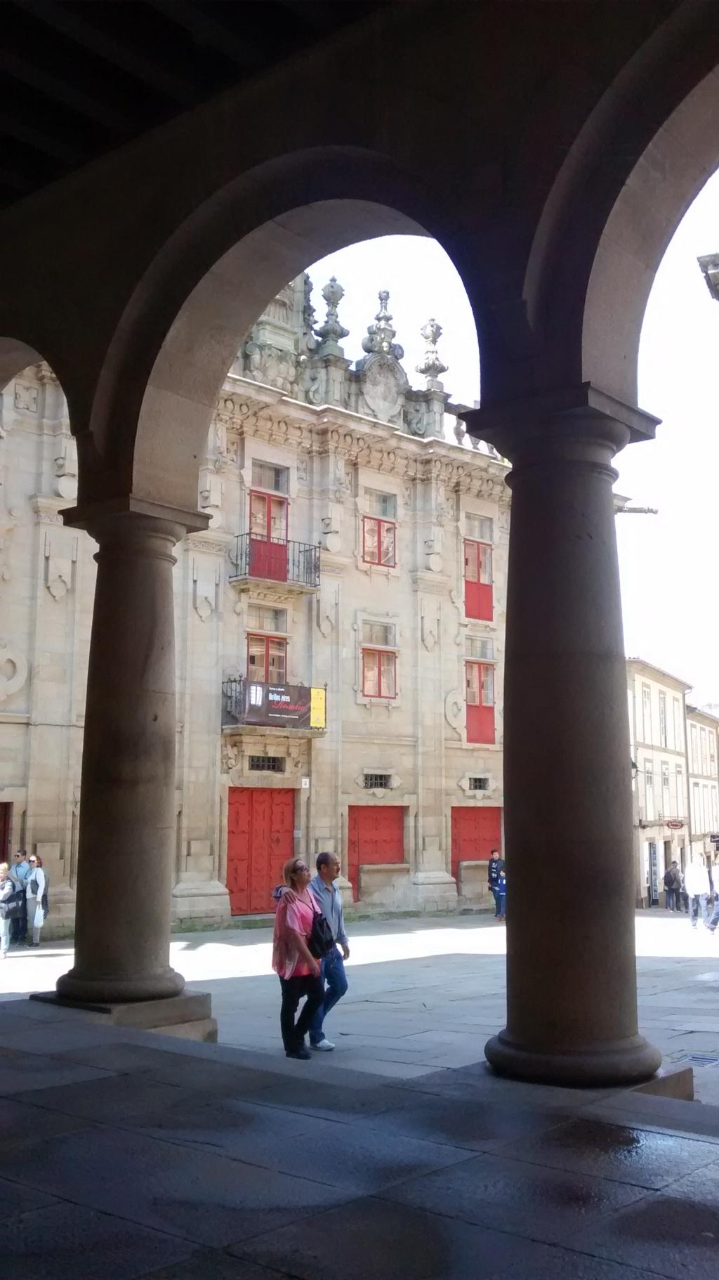 Plaza de Platerías, al fondo Casa del Cabildo