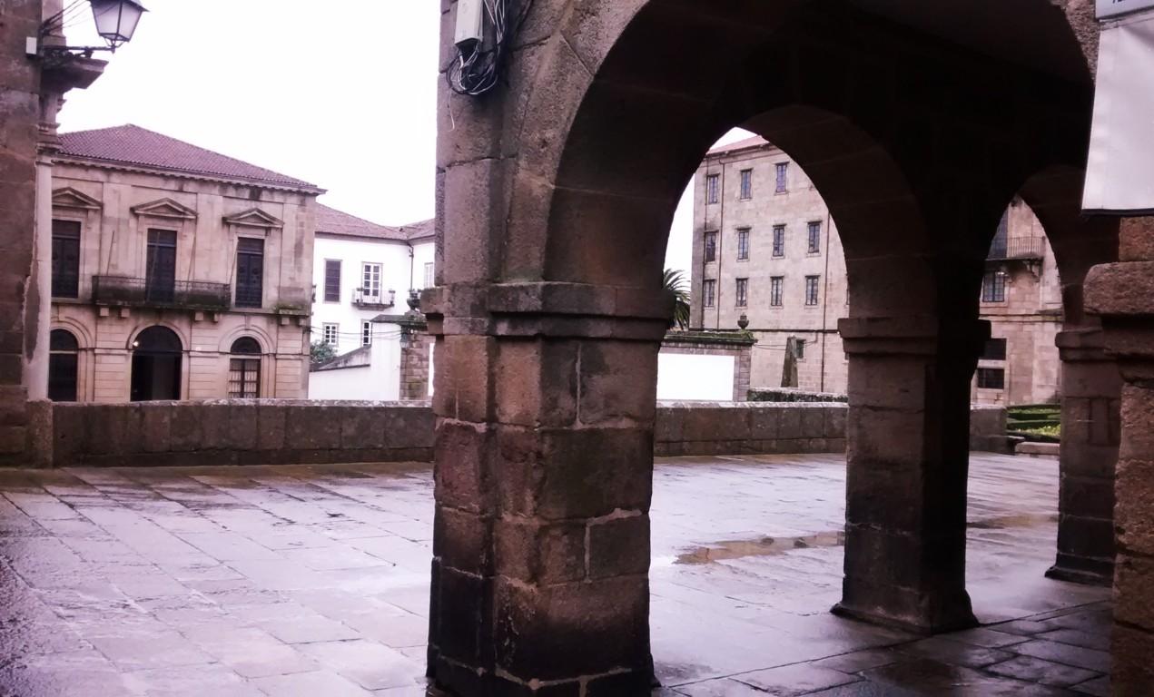 Vista de la plaza de la Inmaculade desde la salida de la Quintana